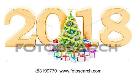 Banque D Illustrations Bonne Annee Et Joyeux Noel 2018 A