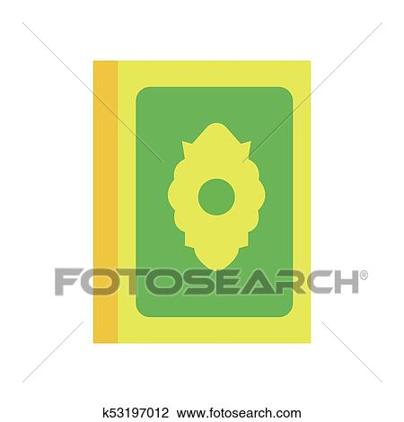 Clipart Of Colorful Illustration Of Holy Quran Or Koran Religious