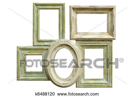 Stock Photography of Distressed Picture Frames k6488120 - Search ...