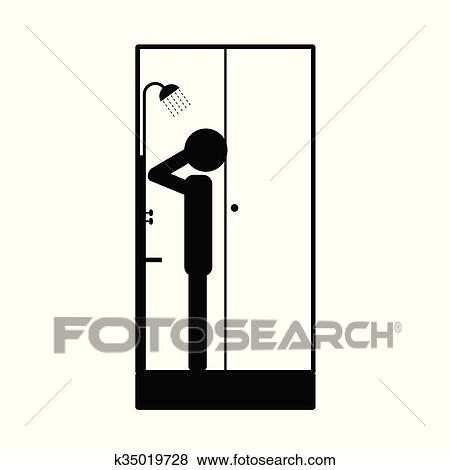 Duschkopf clipart  Clip Art - duschkopf, mit, mann- abbildung k35019728 - Suche Clipart ...