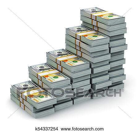 Financial Success Growth Development And Making Money Concept Render Ilration Of The Growing Bar Graph From Stacks New 100 Us Dollar 2017