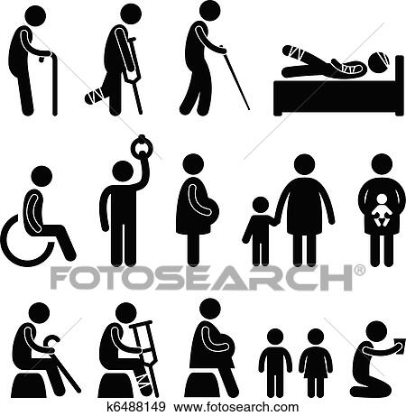 clip art of old man patient blind disable icon k6488149 search rh fotosearch com icon clipart download icon clipart png