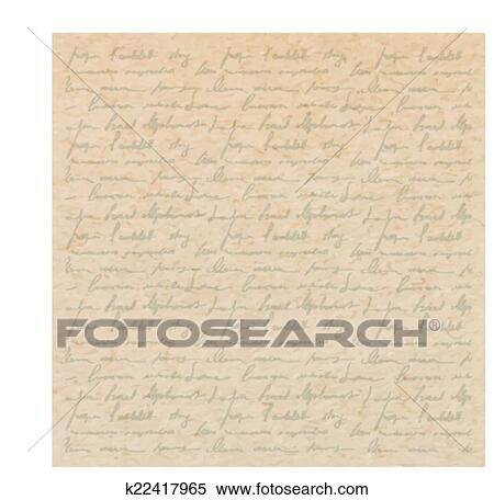 Clipart Of Vintage Old Paper Texture With Handwriting Letter