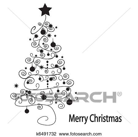 Christmas Tree Vector Clipart
