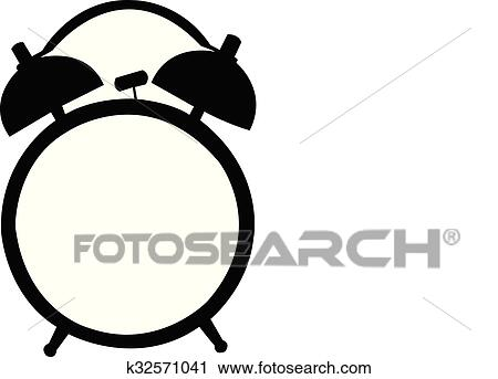 clipart of classic alarm clock silhouette k32571041 search clip rh fotosearch com alarm clipart alarm clock clipart black and white