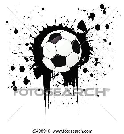 Fussball Ball Clip Art K6498916 Fotosearch