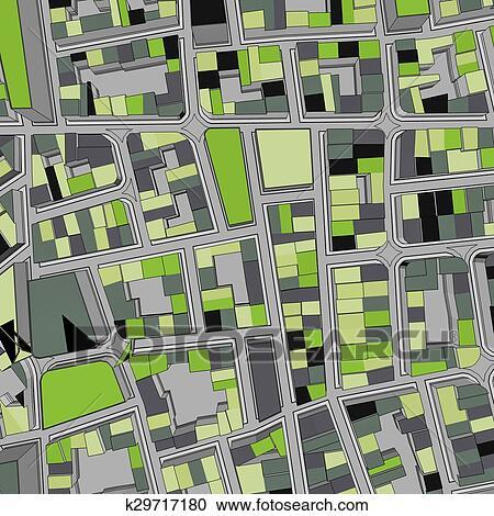Rysunek Miasto Ptak Oko Prospekt Miejski Tło Kolekcje