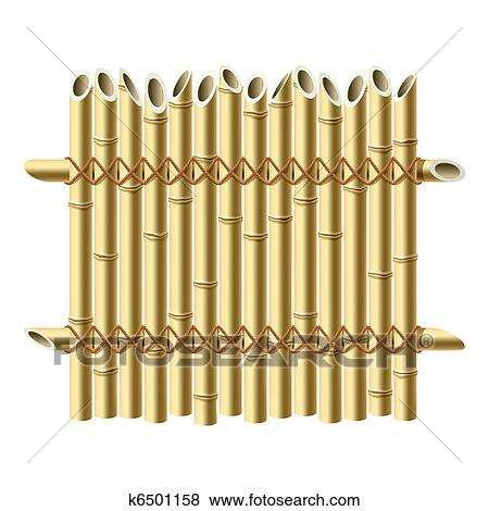 Clip Art Bambus Zaun K6501158 Suche Clipart Poster