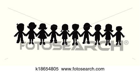 clipart of best friends forever silhouette k18654805 search clip