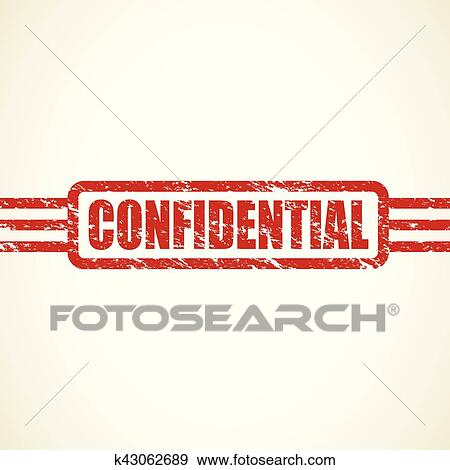 Clip Art Of Confidential Stamp K43062689