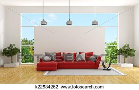 Clip Art - contemporaneo, soggiorno k22534262 - Cerca Clipart ...