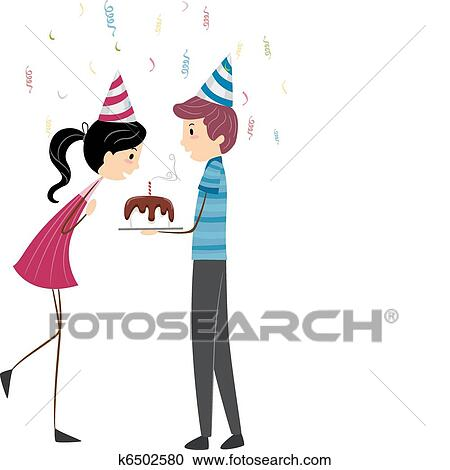 Coup Bougie Clipart K6502580 Fotosearch