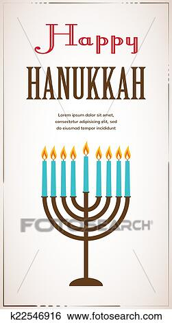 Clip art of happy hanukkah greeting card design jewish holiday happy hanukkah greeting card design jewish holiday vector illustration m4hsunfo