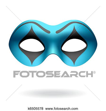 Clip Art of Masquerade mask k6505578 - Search Clipart ...