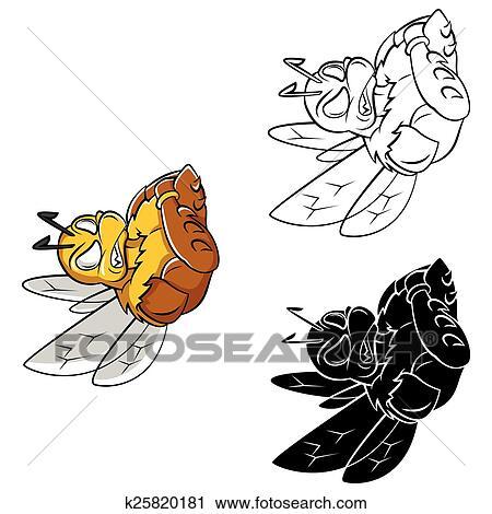 Clipart - libro colorante, ape, forte, caracter k25820181 - Cerca ...