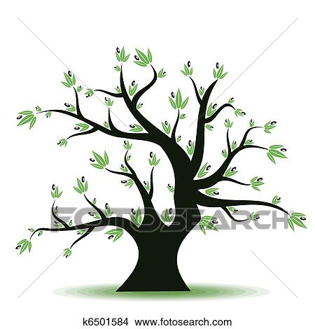 Olive Tree Clipart K6501584 Fotosearch
