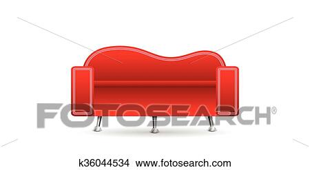 Clipart Of Red Sofa K36044534 Search Clip Art Illustration Murals