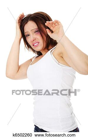 119dd8f7ead9 Sad abused mature caucasian woman Stock Image | k6502260 | Fotosearch