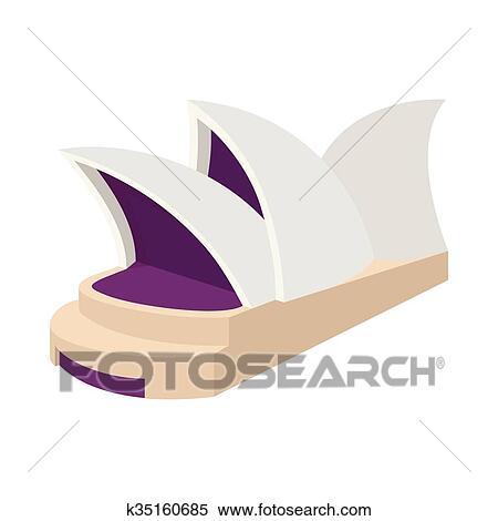 sydney opera house icon cartoon style clipart  k35160685 - Get Sydney Opera House Cartoon Image  Pictures