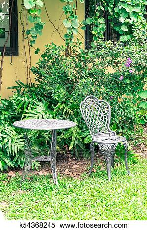 Outdoor Patio Chair In The Garden