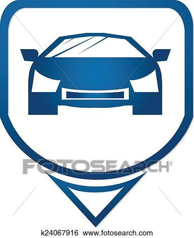 Stock Illustration Of Fast Car Icon Symbols K24067916 Search Clip