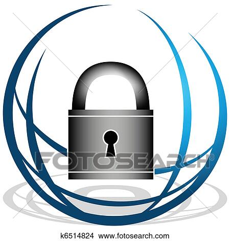 clipart of global security icon k6514824 search clip art rh fotosearch com security clip art png security clipart black and white
