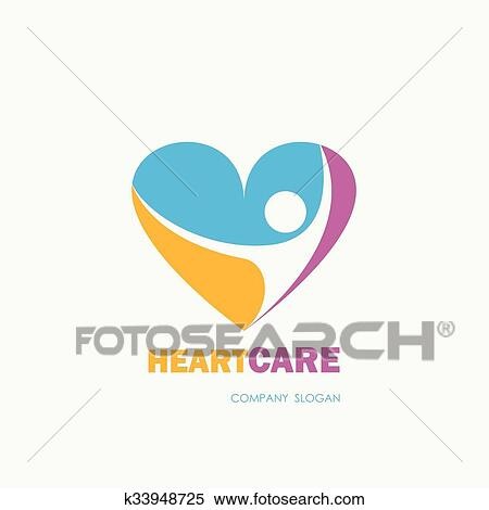 Clipart Of Healthcare Medical Symbol With Heart Shape Heart Care