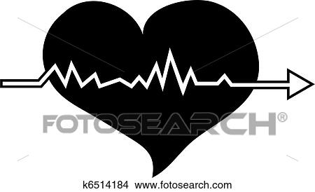 Drawings Of Heartbeat K6514184 Search Clip Art Illustrations Wall