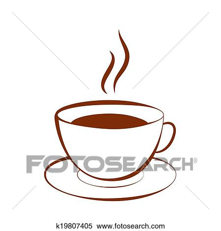 Tasse clipart  Clipart - tasse, de, boisson chaude, (coffee, thé, cacao, chocolat ...