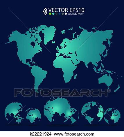 Clipart of modern world map design vector illustration k22221924 modern world map design vector illustration gumiabroncs Images