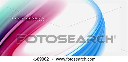 Rainbow Fluid Colors Abstract Background Twisted Liquid