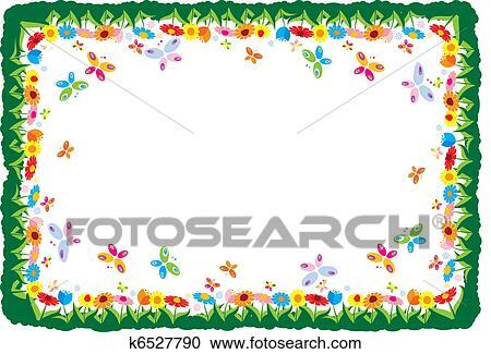 春 ベクトル イラスト フレーム クリップアート切り張りイラスト