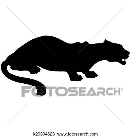 Dibujo - pantera negra, roars, loudly k29394623 - Buscar Clip Art ...