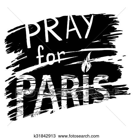 Paris and candle for a prayer Clipart