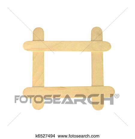 stock photo of popsicle sticks in a frame formation k6527494