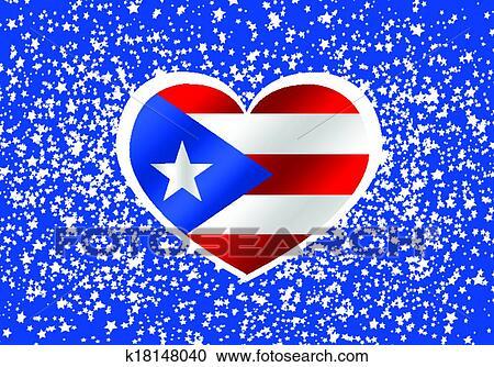 Clipart Of Puerto Rico Flag Themes Idea Design K18148040
