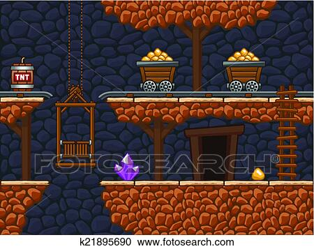 Clipart Of Seamless Gold Mine 2 K21895690