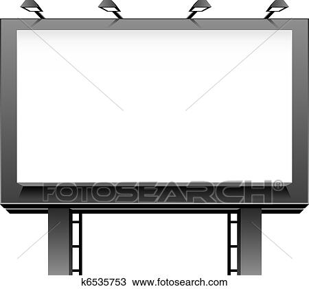 clipart of advertising billboard k6535753 search clip art rh fotosearch com advertising clip art cd