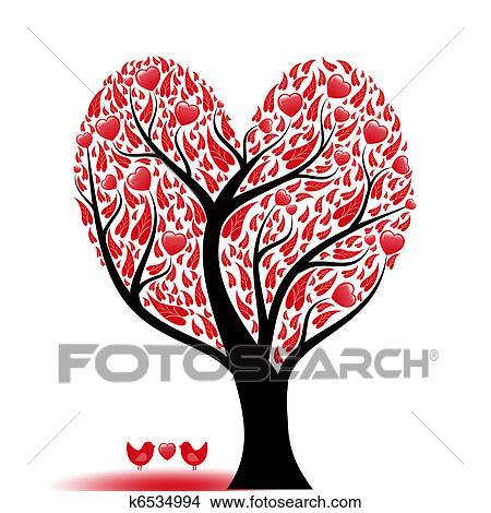Amor árbol Dibujos K6534994