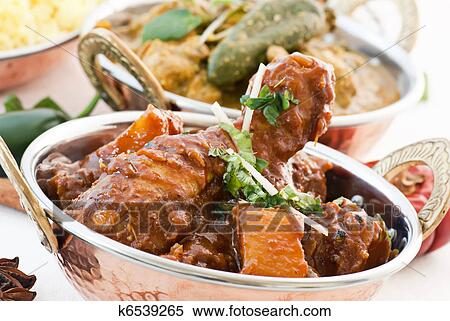 Stock Image Of Chicken Vindaloo And Curry K6539265 Search Stock