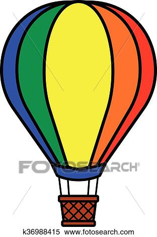 Colorful Hot Air Balloon Clipart K36988415 Fotosearch