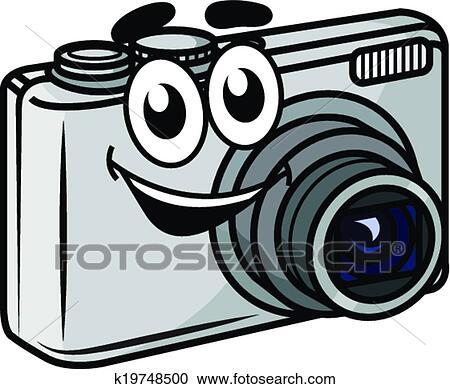 Häufig Clipart - mignon, peu, dessin animé, appareil-photo compact  SO94