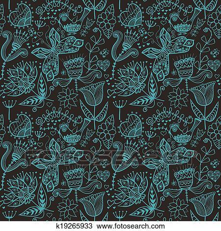 Clipart Resume Floral Fond Ete Theme Seamless Modele