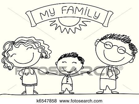 Clip Art   Family On White.Vector Happy Parents And Son. Fotosearch   Search