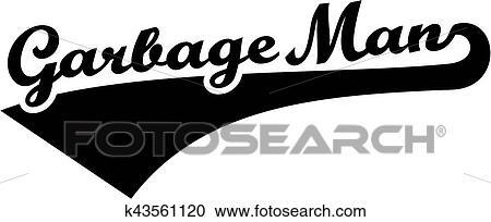 Garbage man retro font Clipart   k43561120   Fotosearch