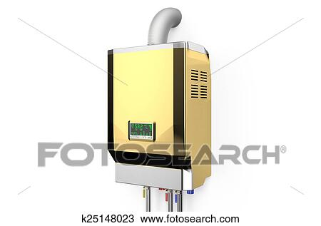 Drawing of Golden home gas-fired boiler, water heater k25148023 ...