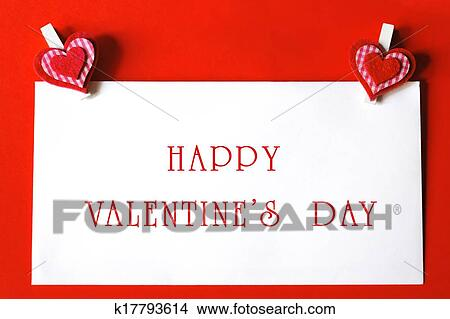 Drawings Of Happy Valentine S Day Paper Sheet With Heart Shaped