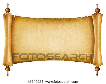 stock photo of old paper texture antique background scroll for text