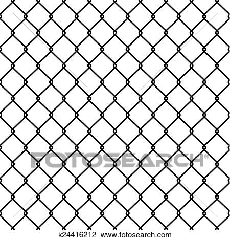 Clipart of Steel Wire Mesh Seamless Background. Vector k24416212 ...