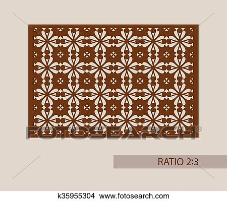Clipart of The template pattern for laser cutting decorative panel ...